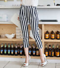 2015 new Ladies fashion Stripe Elastic waist Trousers plus uk sz 10-24