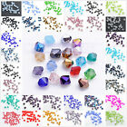 Free Post 200pcs 3mm Bicone 5301# Faceted Crystal Glass Loose Spacer Beads