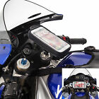 Motorcycle Fork Stem Bike Mount + Water Resistant Case for HTC One M8 M9
