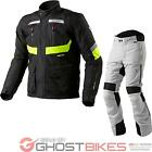 Rev It Neptune GTX Motorcycle Jacket Trousers Hi-Vis Silver Kit Armour WP Outfit