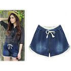 Ladies fashion summer loose casual Denim Shorts 2015 new plus uk sz 10-18