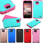 For GoPhone ZTE Maven HARD Astronoot Hybrid Rubber Silicone Case Cover Accessory