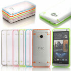 Transparent Clear Hard TPU Gel Skin Case Cover for HTC One 2013 M7 Accessory New