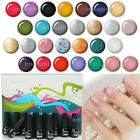 12pcs Nail Art Soak Off Gel Polish Tips Decoration Set Varnish UV LED Manicure