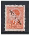 Serbia - 1941 King Peter II issue of Yugoslavia optd on 50p Orange - F/U - SG G2