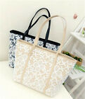 Women Lace Leather Handbag Shoulder Bag Tote Purse Messenger Hobo BA628-629