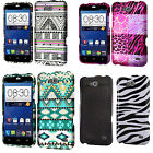 For ZTE Fanfare Z792 IMPACT TUFF HYBRID Hard Phone Case Skin Cover