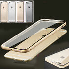 Aluminum Metal Bumper Clear Hard Case Cover Skin for Apple iPhone 6 Plus 5 5S 6+