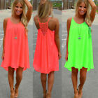 Summer Women Loose Casual Sleeveless Evening Party Beach Dress Short Mini Dress
