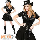 Western Cowgirl + Hat Ladies Fancy Dress Wild West Womens Cowboy Adults Costume