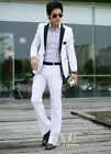 Fashion Mens formal dress white Buiness mens suits with pants two pcs slim M-3XL