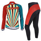 NUCKILY Cycling bicycle bike outdoor Sports long sleeves Jersey+pants Size S-XL