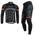 Muscle Cycling bicycle bike outdoor Sports long sleeves Jersey+pants Size M-XXL