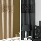 Elegance Bedroom Couture Monte Carlo Satin Eyelet Ready Made Lined Curtains
