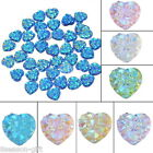 100PCs Resin Rhinestone Flatback Love Heart Shape Mini DIY Buttons Craft