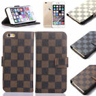Luxury Fashion Deluxe Leather Wallet Flip Case Cover For Apple iphone 6 & 6 PLUS