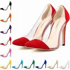 Womens Stiletto Velvet High Heels Pointed  Party Pumps Court Shoes Size 2-9 New