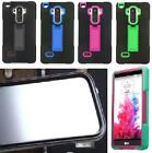BUILT IN SCREEN PROTECTOR Faceplate ARMOR Case For LG G Stylo / Stylus LS770