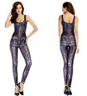 New Ladies Womens girls skeleton skull bone print Halloween jumpsuit party sexy