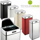 Dihl Rectangle Mono Origin White Black Cream Red Kitchen Automatic Sensor Bin