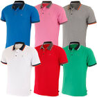Calvin Klein Golf 2015 Mens Stripe Collar Pique Short Sleeve Golf Polo Shirt
