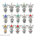 1PC Hand Made Tibetan Silver Tone Guardian Angel Pendants Beads Wing Design