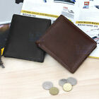 Men's Black / Brown Faux Leather Wallet Purse Business Credit Card Holder Bifold