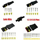 1 2 3 4 5 6 Pin Way Sealed Waterproof Electrical Wire Connector Plug Car Set