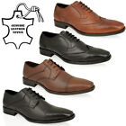 MENS REAL LEATHER FORMAL OFFICE WORK PARTY LACE SMART OXFORD BROGUE SHOES SIZE