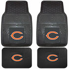 NFL Football Chicago Bears Front Rear Vinyl Rubber Floor Mats Car Truck $26.36 USD on eBay