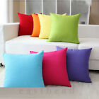 "20 Color Solid Suede Nap Cushion Cover Home Decor Sofa Throw Pillow Case 18""x18"""