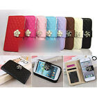 New Stylish Flip Purse Camellia PU Leather Case Cover For Galaxy S4