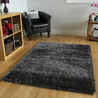 DARK GREY SMALL LARGE SIZE THICK SOFT SHAGGY RUGS NON SHED MODERN CIRCLE RUGS