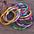 2Roll 12-18Gauge 1.0-2.0mm Aluminum Design Jewelry Wrap Craft Wire 12colours