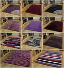 Small Medium Extra Large Rugs Purple Rug Plum Aubergine Mats Soft Modern Rugs