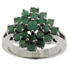 925 Sterling Silver 1.75 Ct Emerald Ring