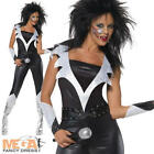 Glam Rock Kiss Chick Fancy Dress Ladies Costume 1970s 80s Celebrity Pop Star