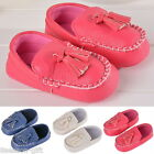 Soft Baby Toddler Infant Tassel PU Leather Moccasin Shoes Girl Boy 0-24 Months