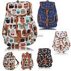 HOT!  Women Lady Girl Vintage Chic Floral Leisure Canvas Backpack School Bags