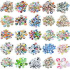 10PCs Mixed Glass Flatback Scrapbooking for Phone Craft DIY Cardmaking 25 Colors