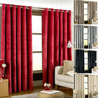 Paoletti Imperial Velvet Fully Lined Ready Made Ring Top Eyelet Curtains