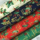 Seasons Greetings Christmas  fabric 100 % cotton per fat quarter/half metre