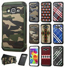For Samsung Galaxy Core Prime Rubber IMPACT TRI HYBRID Case Skin Phone Cover