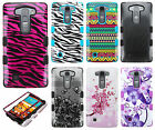 For LG Volt 2 LS751 HARD Rubber IMPACT TUFF HYBRID Skin Phone Cover Accessory