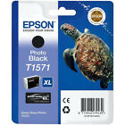 Genuine Epson T1571 XL Turtle Ink Cartridge 25.9ml Photo Black