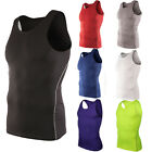 Mens Sports Compression Armour Base Layer Sleeveless T-Shirt Athletic Tank Tops