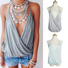 Oversize Sleeveless Strap Backless Loose Blouse Cover Up Tops Beach T Shirt New