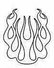 FLAME OUTLINE DECAL #1  VINYL HOOD  CAR TRUCK SUV  VAN  SEMI VEHICLE