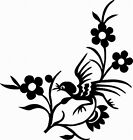 NEW TRIBAL BIRD  #TAN1/143  DECAL  VINYL GRAPHIC CAR VAN AUTO FLOWERS TRAILER RV