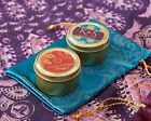 36 Personalized Indian Jewel Round Gold Candy Tins Wedding Favors